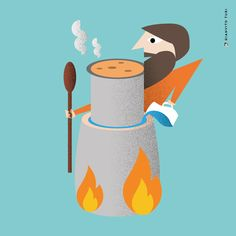 Illustrazione per Italian Tools. 20 regioni / 20 oggetti / 20 illustrazioni. PIEMONTE / Contenitori per la preparazione della bagna cauda. #illustration #illustrator #regione #Piemonte #design #graphicdesign #pot #Tools #foodart #art #inspiration #creativity #drawings #vector