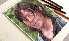 Drawing Daryl Dixon | Desenhando Daryl Dixon - The Walking Dead