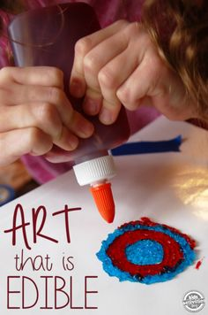 Candy ink - use jello to create this gummy ink that your kids can draw with, and later eat!  Its a FUN kids CRAFT!!