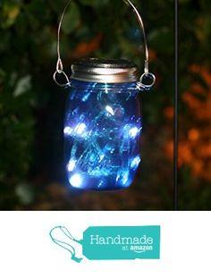 fairy mason jar solar powered lantern mason jar solar light blue from the appalachian artisans https - Solar Powered Lanterns