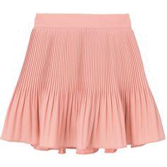 Crystal Pleated Mini Skort ❤ liked on Polyvore featuring pleated skort, red skort, golf skirts and mini skort