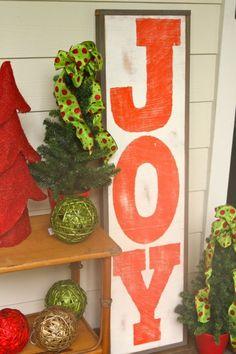 Joy sign for Christmas