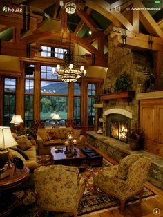 Cabin living like a boss #houzz