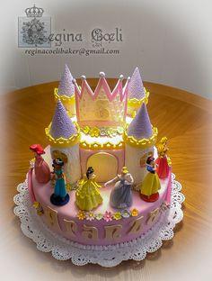 Disney Princess Castle Cake Kit 6th birthday party Pinterest