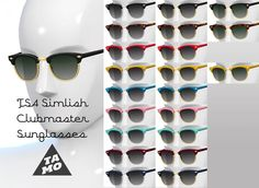 Mod The Sims: Simlish Clubmaster Glasses  by tamo