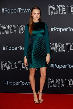 Cara Delevingne is fierce in this Dion Lee dress.