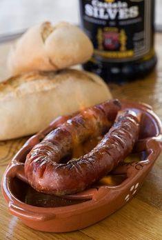 """Portuguese Delights: """"Chouriço  Assado""""."""