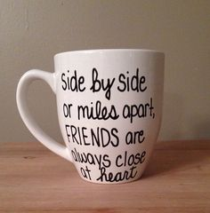 Long Distance Friends Mug for Friends Mug by simplymadegreetings