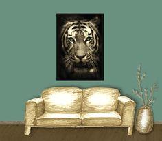 Poster: weißer Tiger - Mein Posterladen - DaWanda