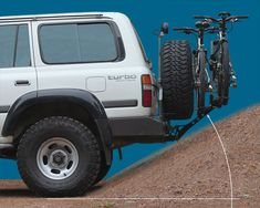 iSi Advanced Bicycle Carrier and Bike Rack Systems Land Cruiser 80, Toyota Land Cruiser, Diy Bike Rack, Hitch Bike Rack, Bicycle Rack, Bike Carrier Rack, Bike Cargo Trailer, Bmx Bike Parts, Jeep Mods