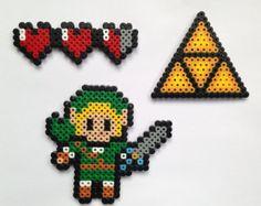 3 la légende de Zelda Perler / Hama perles aimants pour réfrigérateur