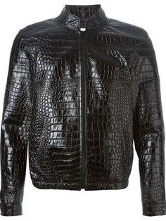 #SaintLaurent Crocodile Embossed Jacket