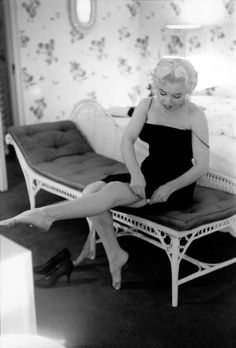 Marilyn getting ready to attend a benefit performance of Ringling Brothers and Barnum