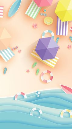 illustration wallpaper in the form of paper craft. - -Summer illustration wallpaper in the form of paper craft. - - Blue fresh summer tour poster background material Summer by the seaside design vector Summer Wallpaper Phone, Trendy Wallpaper, Cute Wallpapers, Wallpaper Backgrounds, Iphone Wallpaper, Wallpaper Art, Kawaii Wallpaper, Cartoon Wallpaper, Wallpaper Quotes