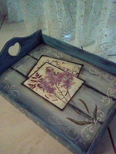 Amy Painted Trays, Amy, Scrapbook, Crafts, Painting, Painted Wooden Boxes, Decorated Boxes, Dinosaur Party, Vintage Crates