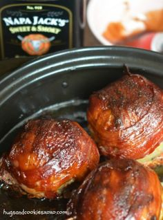 BBQ Onion Meatball Bombs      1 pound meatloaf mix (beef, pork, veal or use all beef if you prefer.)     1 egg     ½ cup bread crumbs (I use Aleia's gluten free)     ½ cup shredded parmesan cheese     3 yellow onions (choose med to large)     salt to taste     1 package bacon     ½ c. Favorite BBQ sauce