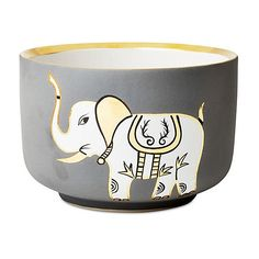 """6"""" Chubby Bowl Elephant Collection Decorative Bowls & Centerpieces (6,510 PHP) ❤ liked on Polyvore featuring home, home decor, decorative accessories, gold centerpieces, waylande gregory bowl, whimsical home decor, gold bowl and grey home decor"""