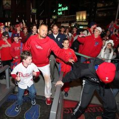 Shane Victorino having a blast last night at CBP. April 2012