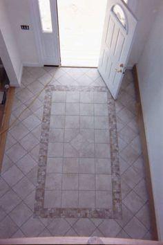 Kitchen or entry -  Entryway or foyer tile floor design