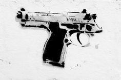 Gun Yourself by Banksy Find our speedloader now! http://www.amazon.com/shops/raeind