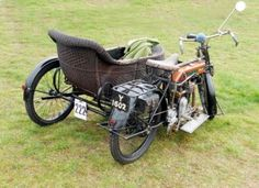 vintage motorbike 18, an old classic vintage motorbike with sidecar