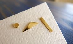 Gold Geometry. Simple Geometrical Shapes Stud. Unisex Man or Woman. One 14K Gold Earring.