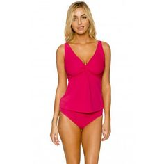 Sunsets Pink Rosette Forever Tankini Top