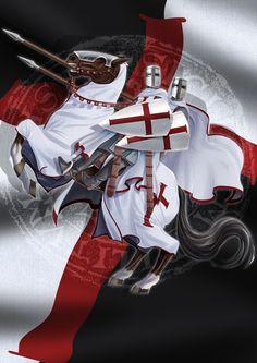 """Knights Templar: Templar Seal - Jack Farrell,"""" by Jangelles, at deviantART. Crusader Knight, Christian Warrior, Medieval Knight, Mystique, Freemasonry, Chivalry, Saint George, Knights Templar, Coat Of Arms"""