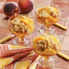 Cinnamon Peach Crisp  ~~  a Healthy & Diabetic Friendly Recipe