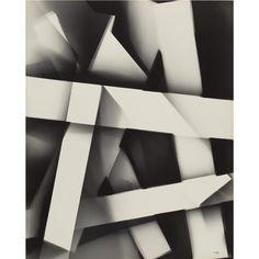 Arthur Siegel - photogram (bars and shadows)