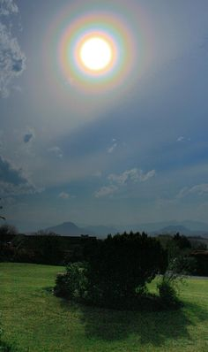 Solar Halo Over Underberg;  We saw this really excellent solar halo over Underberg in the Southern Drakensberg Mountains of South Africa. It is not enhanced at all and the pure brilliance lasted like this till the very high cirrus cloud sped off to the east.  Taken by Keith Fey on September 15, 2016 @ Underberg, South Africa