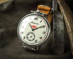 Gran reloj, reloj Molnija, soviético hombres, reloj de la URSS trabajan Molnia, militares soviéticos, regalo para él