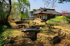 Hanjujeongsa in spring Hangae-village  한개마을 한주정사의 봄