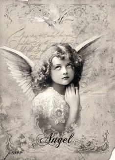 Vintage girl angel Digital collage free for personal use by Yvette Herrera Decoupage Vintage, Vintage Ephemera, Vintage Postcards, Vintage Girls, Vintage Children, Vintage Pictures, Vintage Images, Vintage Valentine Cards, Angel Pictures