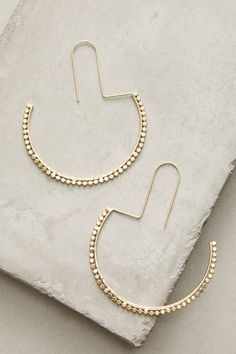 Slide View: 1: Half Moon Hoop Earrings
