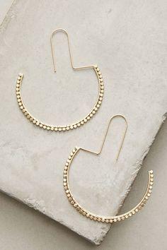 Slide View: 1: Boucles d'oreilles anneaux demi-lune