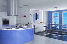 Furniture design-new decorating ideas for small space above kitchen cabinets Blue Kitchen Designs, Simple Kitchen Design, Kitchen Designs Photos, Outdoor Kitchen Design, Luxury Interior Design, Home Interior, Interior Design Kitchen, Layout Design, Küchen Design