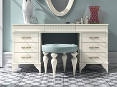 Coiffeuse laquée.Mod: GA1323G Vanity, Design, Furniture, Home Decor, Shopping, Powder Room, Yurts, Vanities, Solid Wood