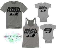 Hakuna Matata Shirts Disney World Matching Family Tops Disney Vacation Mens Womens Kids Tops Animal Kingdom Lion King Inspired