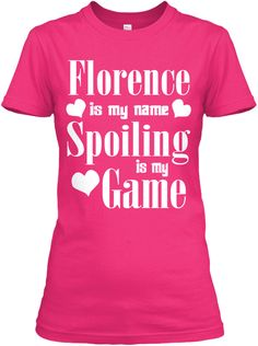 Florence Is My Name Heliconia T-Shirt Front