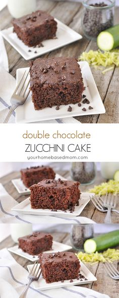 Double Chocolate Zucchini Cake - nobody will even know this dessert is healthy…