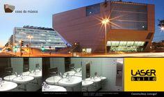 A Casa da Música escolheu #Bobrick! #LaserBuild #WC #Arquitectura #Engenharia #Construção #CasadaMusica #RemKoolhaas #Porto
