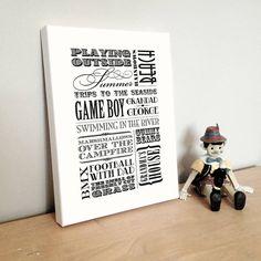 Personalised Childhood Memories Print