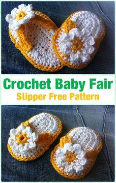 Crochet Baby Fair Slipper Free Pattern -  #Crochet Baby Flip Flop Sandals [FREE Patterns]