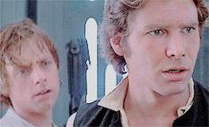 Lol I don't know what they see , but Han Solo's face is funny!