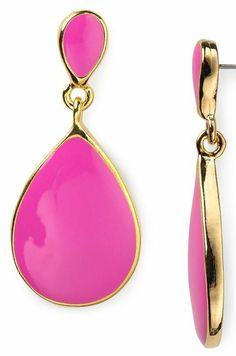 Pink Earrings Teardrop Kenneth Jay Lane Casual Weekend