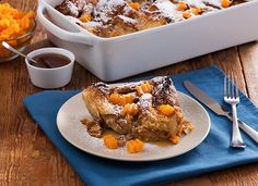 BUTTERNUT SQUASH ZIG ZAGS - Start your Christmas morning off right with a delicious Butternut Squash Zig Zag Bread Pudding that's packed with Vitamin A & C.