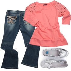 Your casual clothing crisis, solved. These pieces are sure to become easy wardrobe staples! Studded Shirt, Sparkly Shoes, Fall Winter Outfits, Summer Outfits, Casual Outfits, Wardrobe Staples, Sassy Girl, Girly Girl, School Clothing