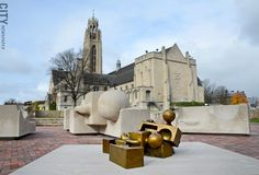 "Tom Otterness' ""The Creation Myth,"" now installed in the Memorial Art Gallery's growing Centennial Sculpture Park"