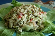 """24/7 Low Carb Diner: Hawaiian Chicken Salad  """"I used pineapple flavored Da Vinci sugarfree syrup, but you could easily sub some sweetener and a drop or two of pineapple flavoring."""""""